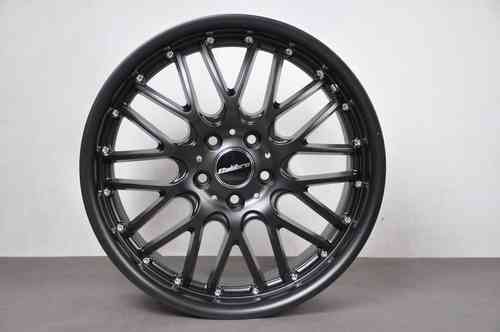 "CALIBRE SPUR 18"" 8J ET45 5x112 Full Black Matt"