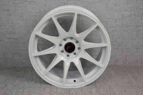 "JAPAN RACING JR11 16"" 8J ET25 4x100 / 4x108 WHITE"