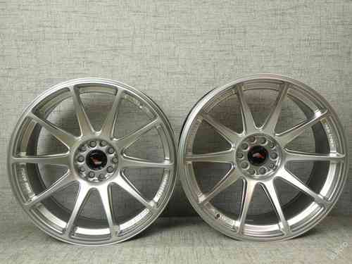 "JAPAN RACING JR11 18"" 8,5J(ET35) + 9,5J(ET30) 5x100 5x108 Hyper Silver"