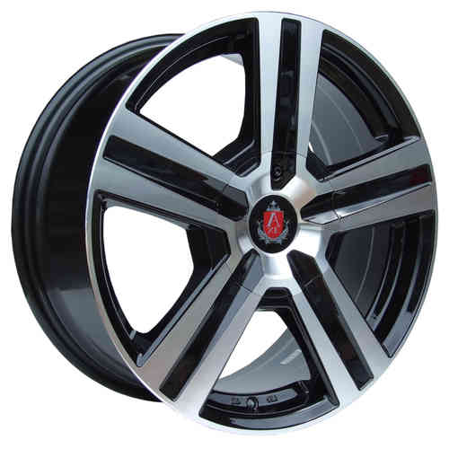 "AXE EX6 18"" 8J ET45 4x100-6x139,7 Black Polished Lip"