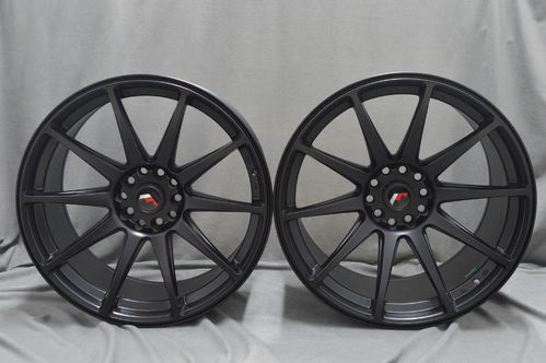 "JAPAN RACING JR11 20"" 8,5J ET20-35 + 11J ET20-30 Matt Black"