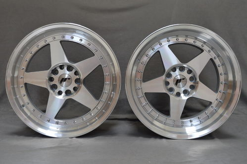 "JAPAN RACING JR6 18"" 8,5J ET20-40 + 9,5J ET20-40 blank mach sil"
