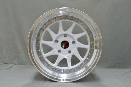 "JAPAN RACING JR26 18"" 8,5J ET20-40 + 9,5J ET20-40 BLANK White"