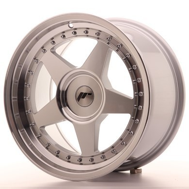 "JAPAN RACING JR6 17"" 10J ET0-20 5x110 Blank Mach Sil"