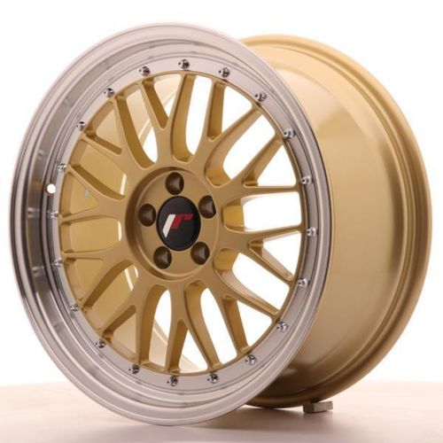"JAPAN RACING JR23 16"" 7J ET20-45 + 8J ET20-45 5x110 BLANK GOLD"