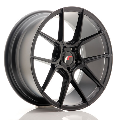 "Japan Racing JR30 17"" 7J ET20-40 + 8J ET20-40 BLANK Matt Black"