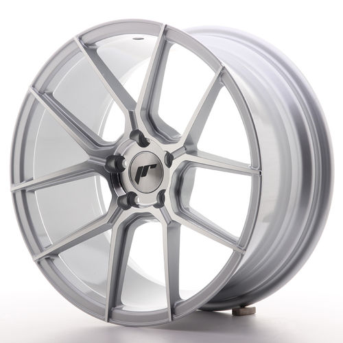 "Japan Racing JR30 17"" 7J ET20-40 BLANK Silver Machined Face"