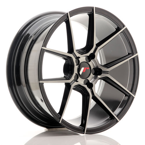 "Japan Racing JR30 20"" 8,5J ET20-42 BLANK Black Brushed with Tinted Face"