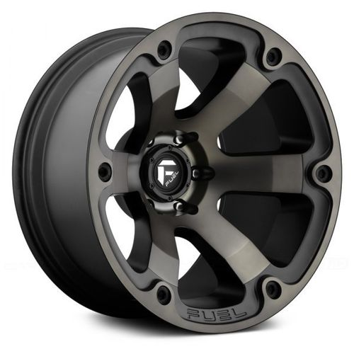 "Fuel Beast 20"" 10J ET-18 8x165,1 Black with Machined Face and Double Dark Tint"