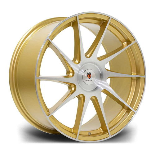 "Stuttgart SF11 18"" 8,5J ET38 BLANK Gold Brushed"