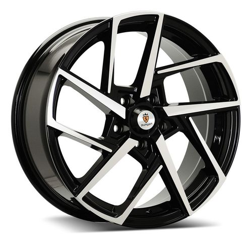 "Stuttgart ST21 18"" 7,5J ET42 BLANK Black Polished"