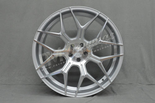 "Ferrada FT3 24"" 10J ET25 6x135 Machine Silver"