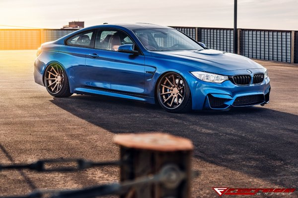 "FR4 Matte Bonze / Gloss Black Lip Size: 20x10.5 & 20x11.5 2015 BMW M4 ""Bagged\\n\\n18/10/2016 12:57"