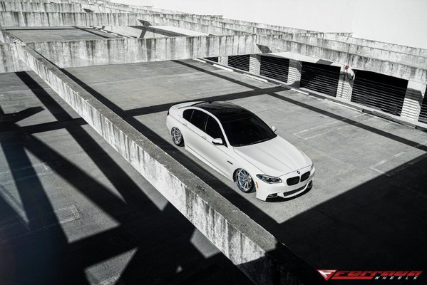 Ferrada Wheels FR4 Machine Silver / Chrome Lip. Size: 20x10.5 & 20x11.5 2015 BMW 550 Bagged\\n\\n18/10/2016 12:33
