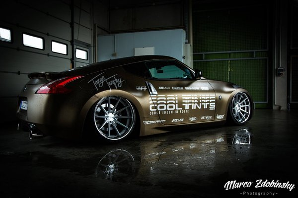 Ferrada Wheels FR4 Machine Silver / Chrome Lip. Size: 20x10.5 & 20x11.5 2014 Nissan 370Z Bagged\\n\\n18/10/2016 12:12