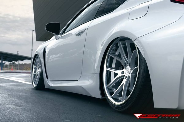 Ferrada Wheels FR2 Machine Silver / Chrome Lip. Size: 20x9 & 20x10.5 2016 Lexus RCF Bagged\\n\\n24/11/2016 12:09