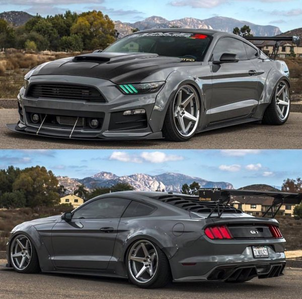 Ferrada Wheels FR3 Machine Silver / Chrome Lip. Size: 20x10.5 Front & 20x11.5 Rear. 2016 Ford Mustang bagged\\n\\n16/12/2016 13:38