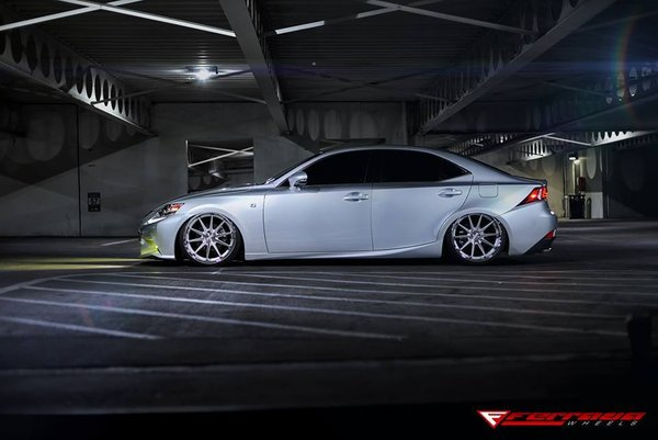 Ferrada Wheels FR4 Machine Silver / Chrome Lip. Size: 20x9 & 20x10.5 | 2015 Lexus IS250 F sport Bagged\n\n10/01/2017 07:59