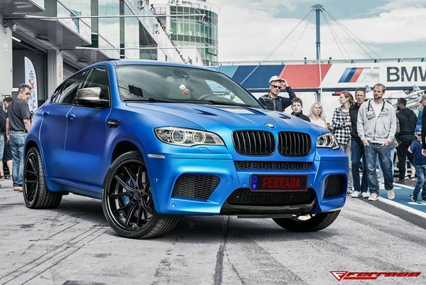 Ferrada FR2 Matte Black with Gloss Black Lip Wheel Size: 22x9.5 and 22x11 2014 BMW X6M\\n\\n28/09/2018 13:34