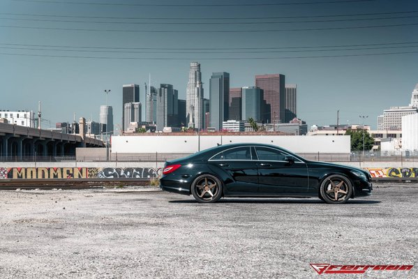 Ferrada Wheels FR3 Matte Bronze / Gloss Black Lip. 2016 Mercedes CLS550\\n\\n18/10/2016 11:53