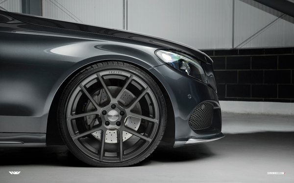 Ispiri ISR6 Satin Graphite - 20 inch with deep concave rear - Mercedes C Class AMG.\\n\\n17/10/2016 17:22