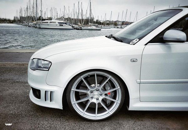 AUDI RS4 Cab with 20 inch FFR6's in Pure Silver Brushed\\n\\n08/12/2016 07:24