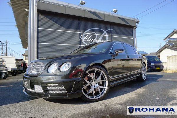 Bentley Continental sporting the Rohana Rotary Forged RFX5 22x9 22x10.5 in Brushed Titanium\\n\\n28/02/2017 08:43