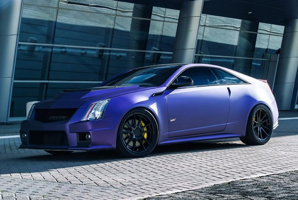 Cadillac CTS-V coupe wrapped in Purple on Rohana Rotary Forged RF2 20x9 l 20x11\\n\\n17/05/2017 11:35