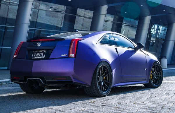 Cadillac CTS-V coupe wrapped in Purple on Rohana Rotary Forged RF2 20x9 l 20x11\\n\\n17/05/2017 11:36