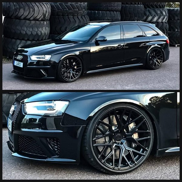 Audi RS4 with the Rotary Forged RFX10 in Gloss Black\\n\\n21/12/2017 08:56