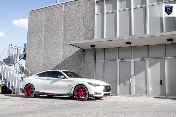 Q60 Red Sport paired with our Gloss Red RF2 in 20x9 20x10.\\n\\n21/08/2017 10:15